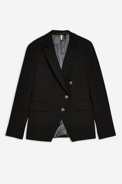 TOPSHOP Asymmetric Jacket in Black – asymmetrical designs