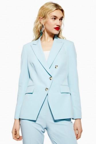 TOPSHOP Asymmetric Jacket in Dusty Blue
