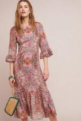 Kachel Karlotta Printed Dress in Pink