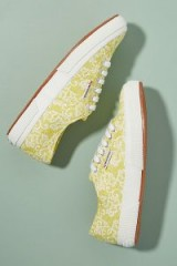 Superga 2750 Fantasy Cotu Trainers in Yellow – floral lace sneakers
