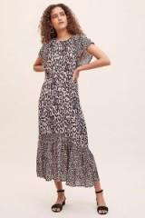 Lily & Lionel Cougar Rae Printed Dress ~ animal print flutter-sleeve dresses