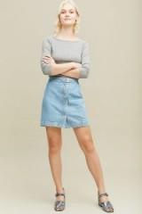 Twist & Tango Cassandra Denim Skirt in Blue