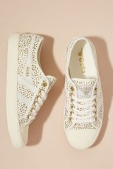 Gola Metallic Coaster Trainers in White ~ sports luxe sneakers