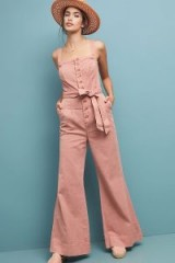 ANTHROPOLOGIE Desmond Jumpsuit in Pink – 70s style jumpsuits