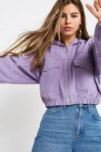 UO Utility Pocket Lilac Crop Jacket / casual jackets / weekend style