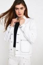 Carhartt WIP Meddox White Utility Jacket ~ utilitarian fashion