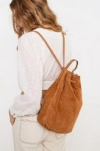 UO Suede Duffel Backpack in Brown – backpacks with style