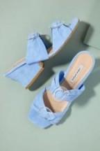 About Arianne Valentina Malibu Heels in Blue   stunning Spanish made summer mules