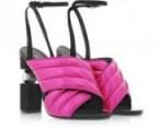 Forzieri BALMAIN Jana Fuchsia Laminated High Heel Sandals – the ultimate pink and black style!