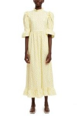 BATSHEVA KATE DRESS in Yellow | long floral prairie dresses
