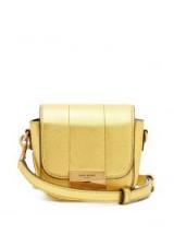 SAINT LAURENT Betty mini metallic-leather cross-body bag ~ small luxe gold crossbody bags