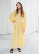& other stories Billowy Prairie Maxi Dress in Yellow | long flowy dresses