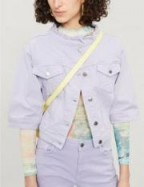 BLANCHE Alvina denim jacket in provence ~ cropped collarless jackets