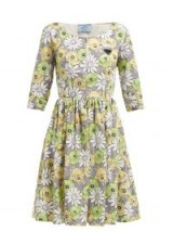PRADA Blossom-print cotton poplin smock dress ~ vintage style spring clothing