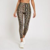 River Island Brown leopard scarf print leggings ~ sporty animal prints