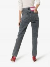 Calvin Klein Jeans Est. 1978 Back Patch Slim Leg Jeans in Black