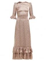THE VAMPIRE'S WIFE Cinderella floral-print silk-satin maxi dress   luxe prairie style dresses