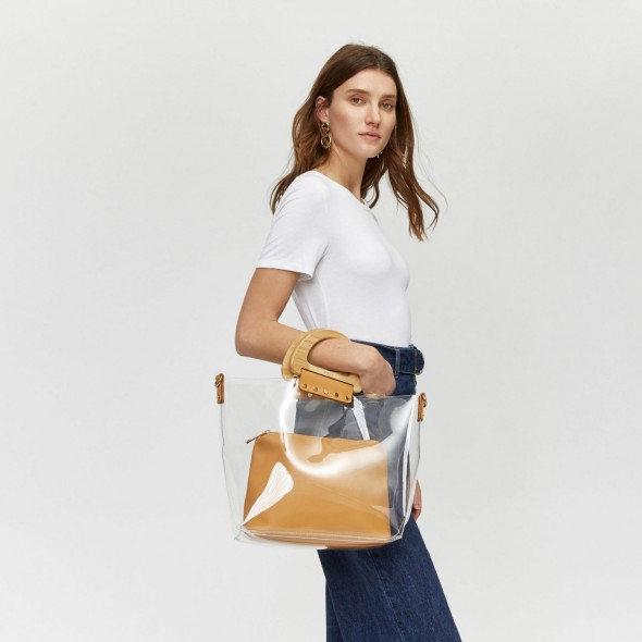 WAREHOUSE CLEAR SMALL SHOPPER BAG / perfect summer accessory