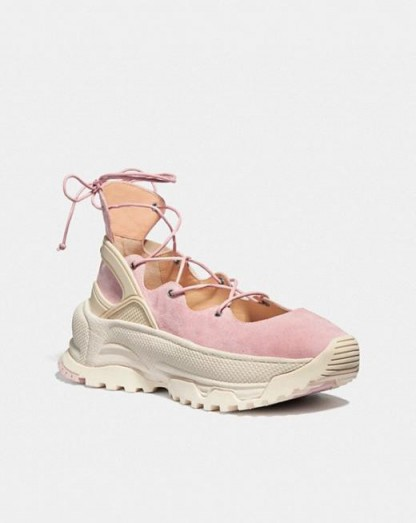 COACH Lace Up Ballerina Sneaker BLOSSOM / sports luxe sneakers