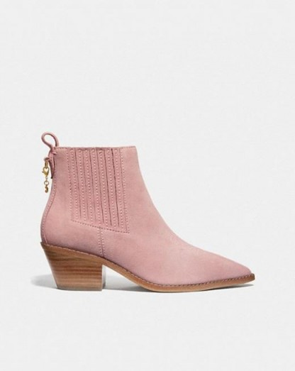 Melody Bootie BLUSH PINK / girly western ankle boots