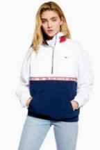 Tommy Jeans Colour Block Windbreaker Jacket in Navy Blue – casual sporty style