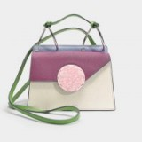 danse lente PHOEBE BIS BAG IN COTTON AND MAGENTA LEATHER – colour-block cutie