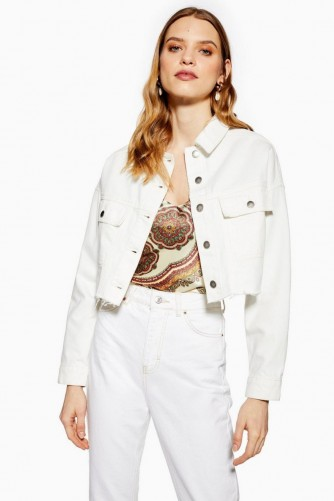 TOPSHOP Denim Hacked Off Jacket ~ raw hem jackets