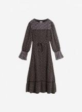BRORA DITSY FLORAL SILK DRESS