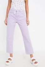 BDG Pax Lilac High-Rise Jeans ~ cropped raw cut hems