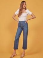 Reformation Eloise Jean in Milos | 70s style crop leg jeans