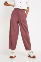 UO Panelled Cotton Cocoon Trousers in Purple ~ relaxed pants