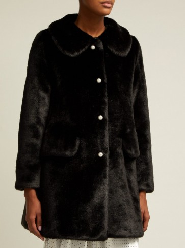SHRIMPS Black faux-fur coat