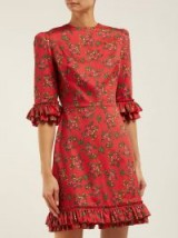 THE VAMPIRE'S WIFE Festival Gypsy red floral-print cotton mini dress | luxe prairie style fashion
