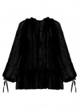 ANN DEMEULEMEESTER Floral-embroidered cotton-voile blouse – love this!