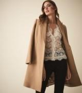 REISS GENEVA LACE BLOUSE CREAM ~ sheer blouses