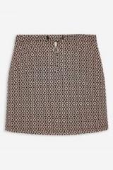 Topshop Geometric Print Popper Mini Skirt | retro prints