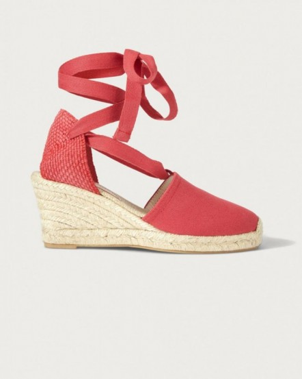 JIGSAW GEORGIA ANKLE TIE ESPADRILLE IN TERRACOTTA / strappy summer wedges
