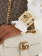 GUCCI GG star and shell-embellished cuff ~ statement cuffs