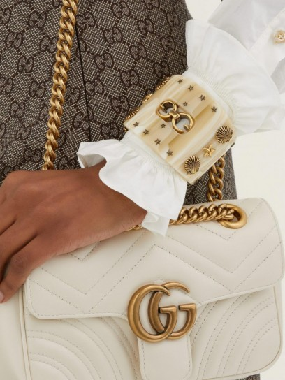 GUCCI GG star and shell-embellished cuff ~ statement cuffs