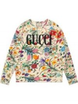 GUCCI Oversize sweatshirt with Gucci print – flower printed sweat top