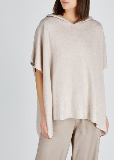 HAWICO Hindscarth taupe cashmere poncho ~ luxe ponchos