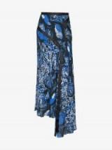 House Of Holland High-Waisted Snakeskin Skirt | long side draped skirts