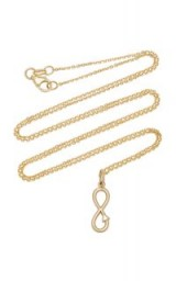 With Love Darling Infinity 14K Gold Necklace | pendant necklaces
