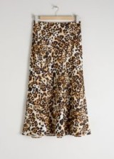 & other stories Jaguar Print Midi Skirt – wild animal prints