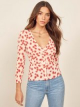 REFORMATION Jemma Top in Daisy Days / flower print blouse