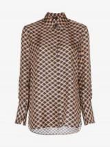 Joseph Mason Checked Silk Shirt / luxury check print shirts