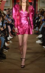 Rotate By Birger Christensen Lamé Mini Dress in Pink ~ glamorous and glitzy fashion