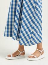 JIL SANDER White leather flatform sandals ~ minimal style summer flatforms