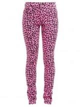 GUCCI Leopard-print slim-leg jeans in pink ~ animal denim