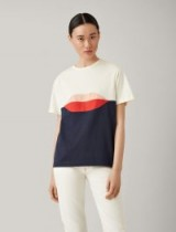 JOSEPH Lips Patchwork Jersey Tee / colour block t-shirt